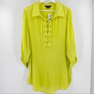 Addition Elle bright yellow tunic NWT